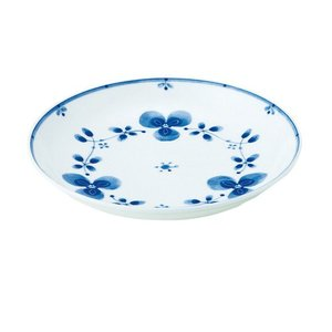 中皿 和食器 / 藍つづり UK七〇皿 寸法:直径22 X 3.5cm 日本製 国産|setomono-honpo