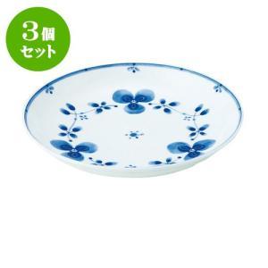 3個セット 中皿 和食器 / 藍つづり UK七〇皿 寸法:直径22 X 3.5cm 日本製 国産|setomono-honpo