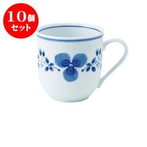 10個セット マグカップ 和食器 / 藍つづり UKマグ 寸法:11.5 X 8.5 X 8.5cm 325cc 日本製 国産 setomono-honpo