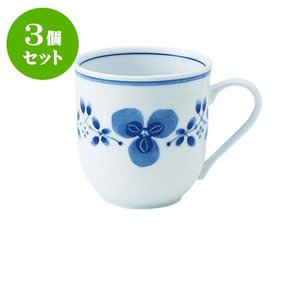 3個セット マグカップ 和食器 / 藍つづり UKマグ 寸法:11.5 X 8.5 X 8.5cm 325cc 日本製 国産 setomono-honpo