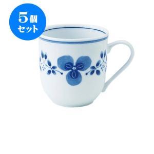 5個セット マグカップ 和食器 / 藍つづり UKマグ 寸法:11.5 X 8.5 X 8.5cm 325cc 日本製 国産 setomono-honpo