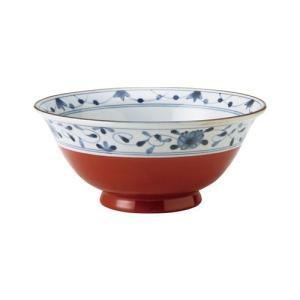 麺鉢 和食器 / 赤巻つる唐草 古染UK麺鉢 寸法:直径19.5 X 8.5cm 日本製 国産|setomono-honpo