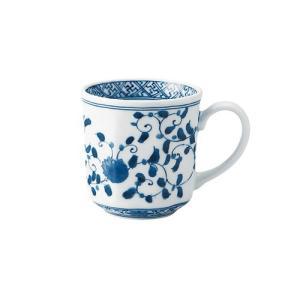 マグカップ 和食器 / 藍凛唐草 RI八角マグ 寸法:12 X 8.5 X 8.5cm 320cc 日本製 国産 setomono-honpo