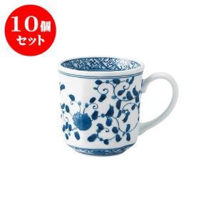 10個セット マグカップ 和食器 / 藍凛唐草 RI八角マグ 寸法:12 X 8.5 X 8.5cm 320cc 日本製 国産 setomono-honpo