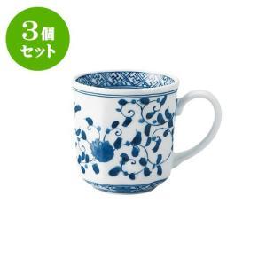 3個セット マグカップ 和食器 / 藍凛唐草 RI八角マグ 寸法:12 X 8.5 X 8.5cm 320cc 日本製 国産 setomono-honpo