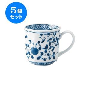 5個セット マグカップ 和食器 / 藍凛唐草 RI八角マグ 寸法:12 X 8.5 X 8.5cm 320cc 日本製 国産 setomono-honpo