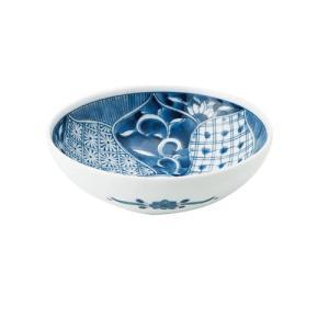 中鉢 和食器 / 藍祥瑞 RI四〇取鉢 寸法:直径13.5 X 4.5cm 日本製 国産 setomono-honpo