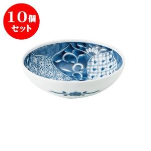 10個セット 中鉢 和食器 / 藍祥瑞 RI四〇取鉢 寸法:直径13.5 X 4.5cm 日本製 国産 setomono-honpo