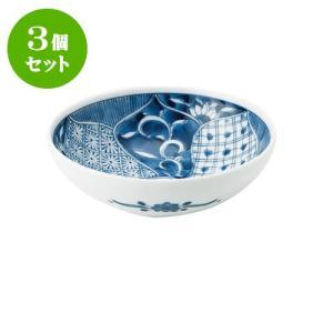 3個セット 中鉢 和食器 / 藍祥瑞 RI四〇取鉢 寸法:直径13.5 X 4.5cm 日本製 国産 setomono-honpo
