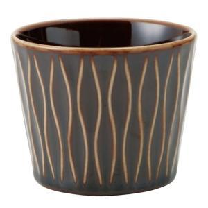 和食器 ロックカップ / アヤ(アメ) 立涌ロックカップ 寸法:Φ8 x 6.5cm 200cc|setomono-honpo