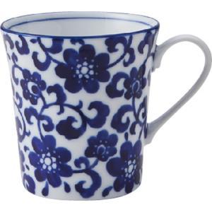 和食器 マグカップ / ブルーフラワー YKマグ 寸法:9 x 12 x 9.5cm 330cc setomono-honpo