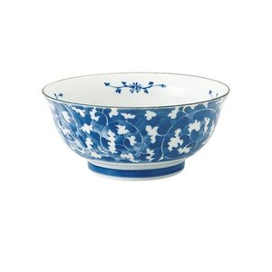 麺鉢 和食器 / だみ唐草 めん鉢 寸法:直径18.5 X 8cm 日本製 国産|setomono-honpo