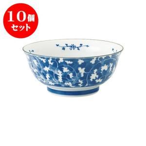 10個セット 麺鉢 和食器 / だみ唐草 めん鉢 寸法:直径18.5 X 8cm 日本製 国産|setomono-honpo