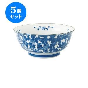 5個セット 麺鉢 和食器 / だみ唐草 めん鉢 寸法:直径18.5 X 8cm 日本製 国産|setomono-honpo