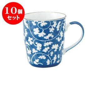 10個セット マグカップ 和食器 / だみ唐草 B型マグ 寸法:11.5 X 8 X 9cm 290cc 日本製 国産 setomono-honpo
