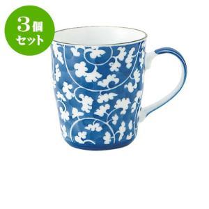 3個セット マグカップ蓋 和食器 / だみ唐草 B型マグ 寸法:11.5 X 8 X 9cm 290cc 日本製 国産 setomono-honpo