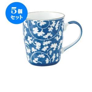 5個セット マグカップ蓋 和食器 / だみ唐草 B型マグ 寸法:11.5 X 8 X 9cm 290cc 日本製 国産 setomono-honpo