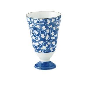 ワイングラス 和食器 / だみ唐草 ワインカップ 寸法:直径6.5 X 10cm 120cc 日本製 国産|setomono-honpo