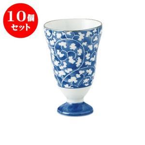 10個セット ワイングラス 和食器 / だみ唐草 ワインカップ 寸法:直径6.5 X 10cm 120cc 日本製 国産|setomono-honpo