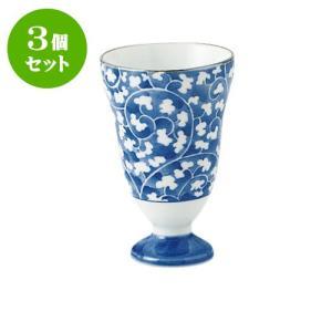 3個セット ワイングラス 和食器 / だみ唐草 ワインカップ 寸法:直径6.5 X 10cm 120cc 日本製 国産|setomono-honpo