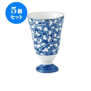 5個セット ワイングラス 和食器 / だみ唐草 ワインカップ 寸法:直径6.5 X 10cm 120cc 日本製 国産|setomono-honpo