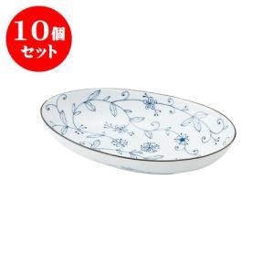 10個セット 大鉢 和食器 / 線唐草 耳無楕円大鉢 寸法:26 X 16 X 5cm 日本製 国産 setomono-honpo