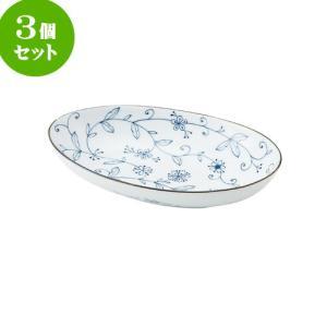 3個セット 大鉢 和食器 / 線唐草 耳無楕円大鉢 寸法:26 X 16 X 5cm 日本製 国産 setomono-honpo