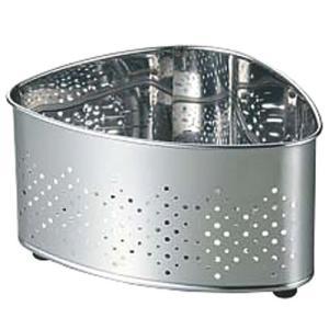 衛生用品 厨房用品 / 18-0抗菌ステンレス三角コーナーCK-112 寸法: 200 x 145 x H100mm|setomono-honpo