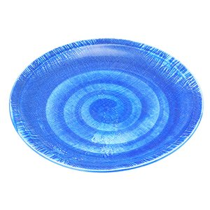 大皿 和食器 / (強)ごす巻(布目)9.0丸皿 寸法: Φ26.5 x H3cm 800g|setomono-honpo