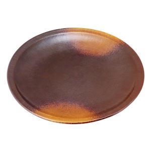 大皿 和食器 / (強)焼締(布目)9.0丸皿 寸法: Φ26.5 x H3cm 900g|setomono-honpo