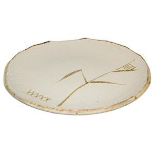 大皿 和食器 / 唐津 9.0丸皿 寸法: Φ27.5 x H2.5cm 960g|setomono-honpo