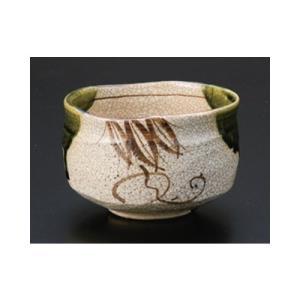 茶道 / 抹茶碗 織部抹茶加実作 寸法:12.5 x 7.5cm|setomono-honpo