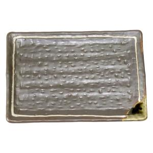 和食器 / 串皿 鉄釉一珍ライン6.0長角皿 寸法:17.5 x 11.8 x 1.8cm
