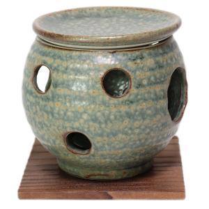 和食器 / 茶香炉 織部伊羅保茶香炉(台付) 寸法:10.5 x 11cm|setomono-honpo