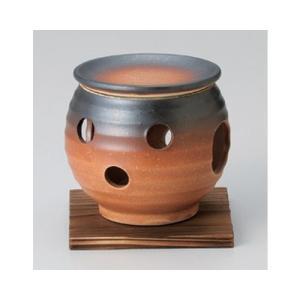 和食器 / 茶香炉 茶錆茶香炉(台付) 寸法:10.5 x 11cm|setomono-honpo