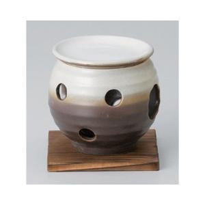 和食器 / 茶香炉 南蛮白吹茶香炉(台付) 寸法:10.5 x 11cm|setomono-honpo
