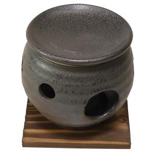 和食器 / 茶香炉 黒水晶茶香炉(台付) 寸法:10.5 x 11cm|setomono-honpo