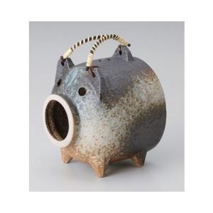 和食器 / 蚊取り器 備前風豚(萬古焼) 寸法:15 x 15 x 17cm setomono-honpo