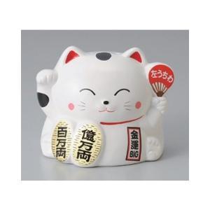 和食器 / 蚊取り器 招き猫(白)(萬古焼) 寸法:16 x 17 x 15cm setomono-honpo