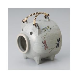 和食器 / 蚊取り器 とんぼ豚(萬古焼) 寸法:15 x 15 x 17cm setomono-honpo