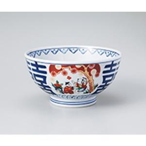 丼 和食器 / 錦支那唐子 6.3丼 寸法:18.5 x 9.5cm setomono-honpo