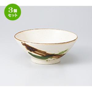 3個セット 丼 和食器 / さわらび5.8そば丼 寸法:17.7 x 7.6cm ・ 880cc setomono-honpo