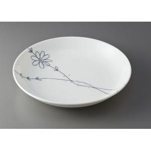 和皿(22〜20cm) フラワーライン 軽量6.0皿 [D20 x 3.5cm]  料亭 旅館 和食器 飲食店 業務用|setomono-honpo