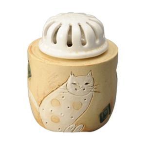 白猫 香炉 [ H11cm ] 【 香炉 】 | HANDMADE 置物 インテリア ギフト プレゼント|setomono-honpo