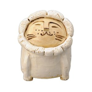ライオン 香立鉢(白) [ H10.5 cm ] 【 香立 】 | HANDMADE インテリア ギフト プレゼントかわいい|setomono-honpo