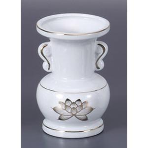 仏具 金蓮5.0玉仏花瓶 [15.2cm]  仏具 神具 供養 お墓 仏壇 お盆 お彼岸|setomono-honpo