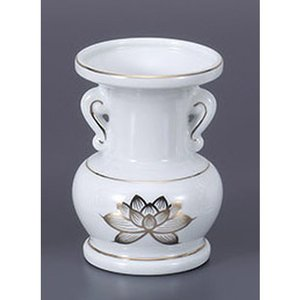 仏具 金蓮4.0玉仏花瓶 [12cm]  仏具 神具 供養 お墓 仏壇 お盆 お彼岸|setomono-honpo
