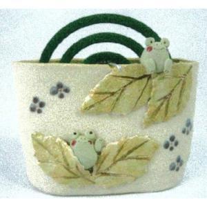 蚊遣器 奈の花窯 かえる蚊やり器 setomono-honpo