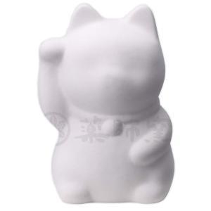 お絵かき招き猫(右手上げ)(貯金箱) [ 10cm ] [陶器・素焼き] 【陶器でお絵描き】|setomono-honpo