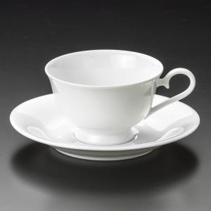 コーヒー 白磁カルチェ兼用碗皿 [ 9.5 x 6cm 21...